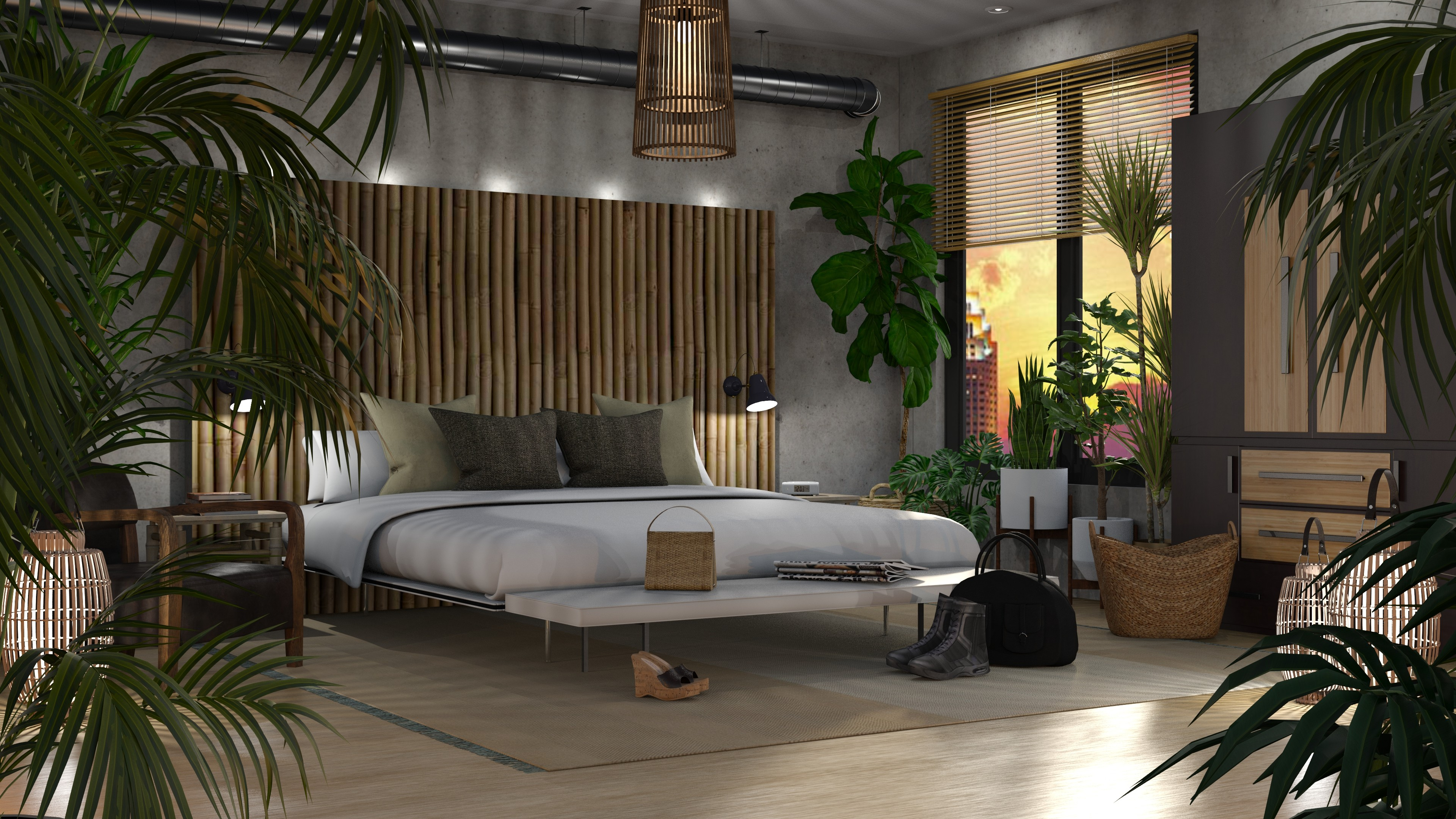 Bedroom Jungle Modern Bedroom Wallpapers Stylish Trends For Your Family