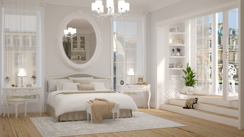 White Master Bedroom - Classic - Bedroom - by maja97