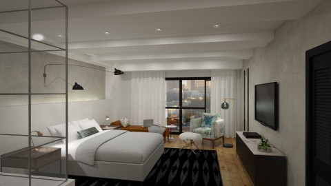 luxe bedroom - by flokopuffs