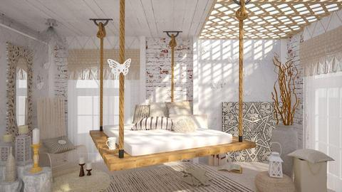 White Butterflies - Vintage - Bedroom  - by deleted_1587966089_ArcticMoon
