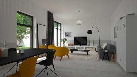 Black and Yellow - Living room - by marleinxs