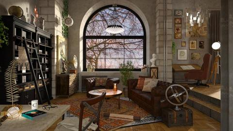 The Art Collector - Vintage - Living room  - by Chad_dp