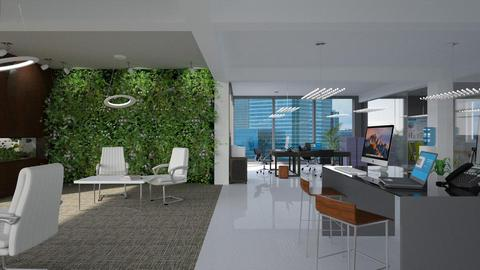 Living Office Wall - Office - by CAD Service UK