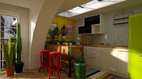 bright bohemian kitchen  - Kitchen - by Evgeniya Sinenko