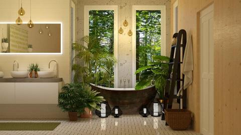 urban jungle bathroom  - Bathroom - by boho_dreamer