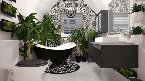 Urban Jungle Bathroom - Bathroom - by CassW