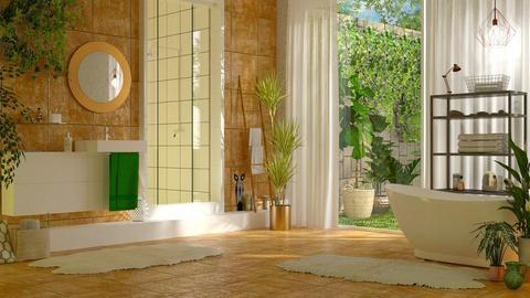 Jungle bathroom - by sukica