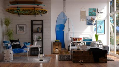 Surfer - Bedroom - by aniachoynowska