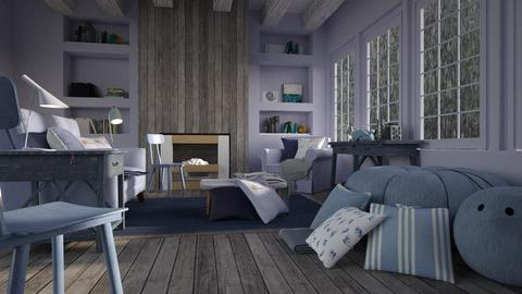 Blueberry monochrome - Living room - by laughterlines