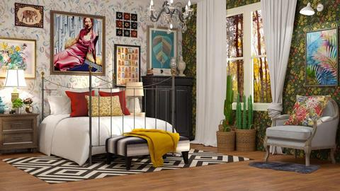Maximalist Bedroom - by DeborahArmelin