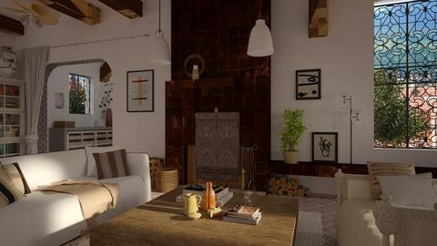 Mediterranean - Living room  - by marinmarin