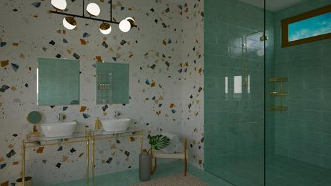 turquoise and gold - Bathroom - by _xandra_