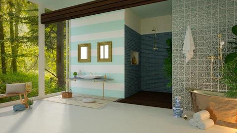 Turquoise - Bathroom - by Snowy Tiger