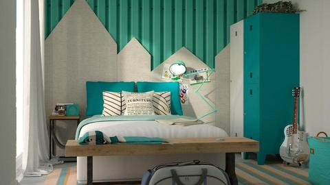 Turquoise_metal Bedroom - by meggle