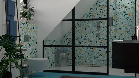 Turquoise_metal Bathroom - by meggle