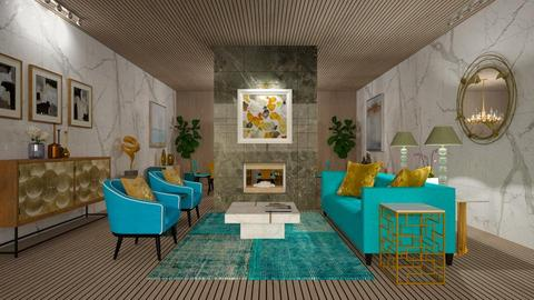 Turquoise Metallic Living Room - Living room - by Studio EDesign