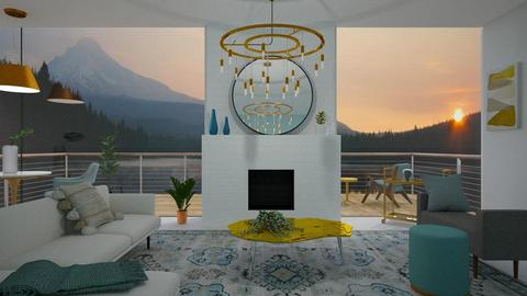 teal and gold - Living room  - by _xandra_