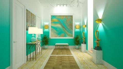 Turquoise Metallic Hallway - by Studio EDesign