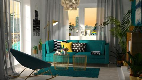 Turquoise_metal Living - by meggle