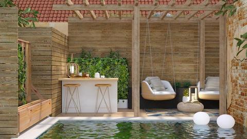 Modern Pool - Garden - by GinnyGranger394