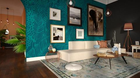 Turquoise Living - Living room - by Snowy Tiger