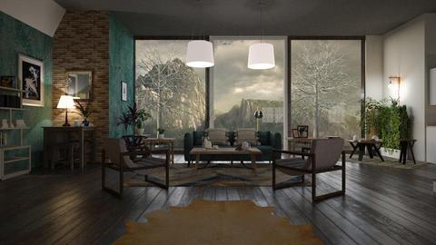Rocks - Living room - by ZuzanaDesign