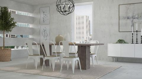 White Industrial Dining - Dining room  - by KimAlys