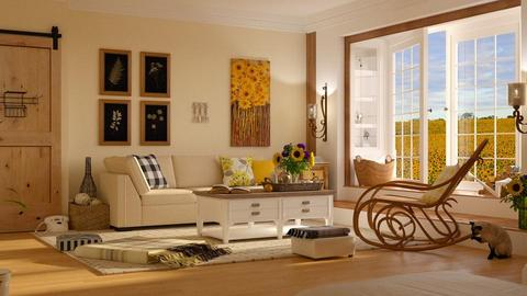 Sunflowers - Living room - by ArtHousedeco