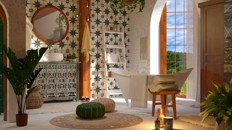 Bohemian Bathroom - Bathroom  - by ArtHousedeco