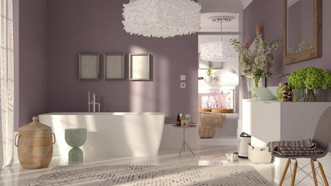lavender bathroom - Bathroom  - by bnu