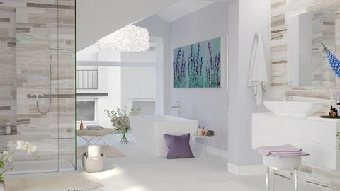 Soft Lavender - Bathroom  - by ArtHousedeco