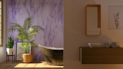 Lavender Bathroom - Bathroom - by GinnyGranger394