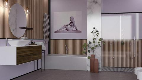 lavender bathroom - Modern - Bathroom  - by jagwas