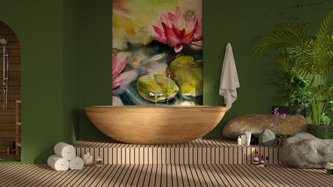 Lily Pond Bath - Bathroom - by Snowy Tiger
