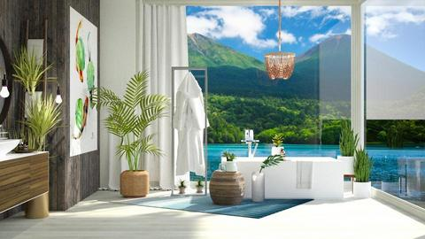 Lily Pad Tropics Bath - Bathroom  - by GinnyGranger394