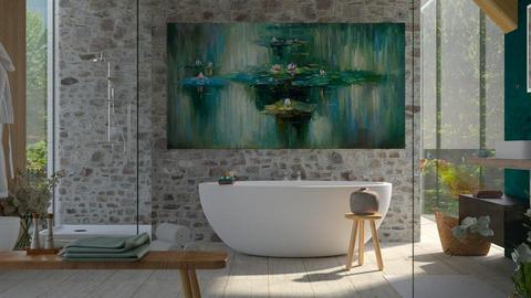 Water Lily - Bathroom  - by ArtHousedeco