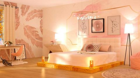 Rose Gold - Living room  - by CatsFurLife