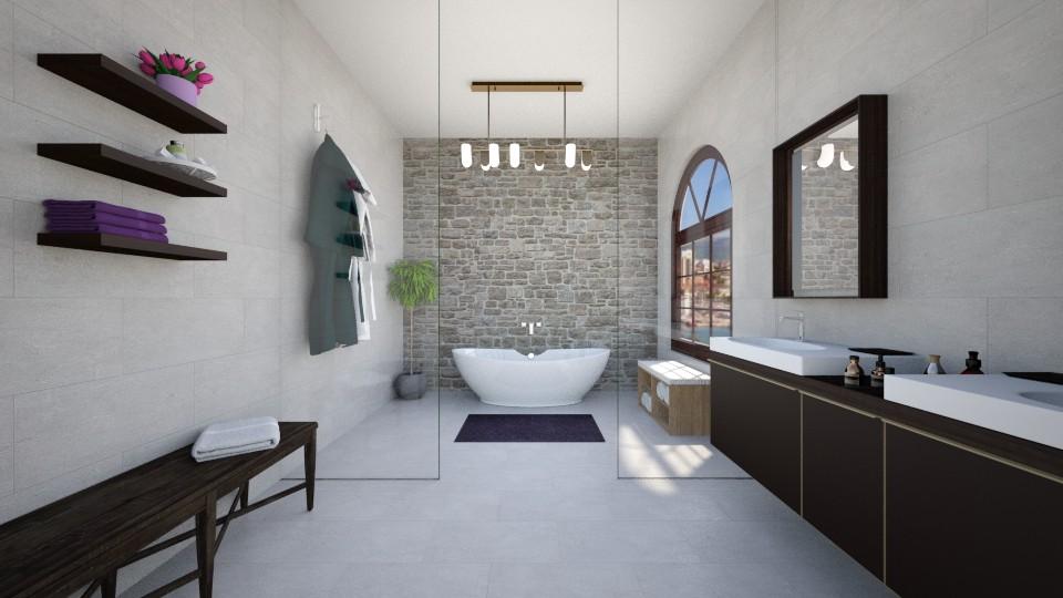 modern bathroom - by martynare3