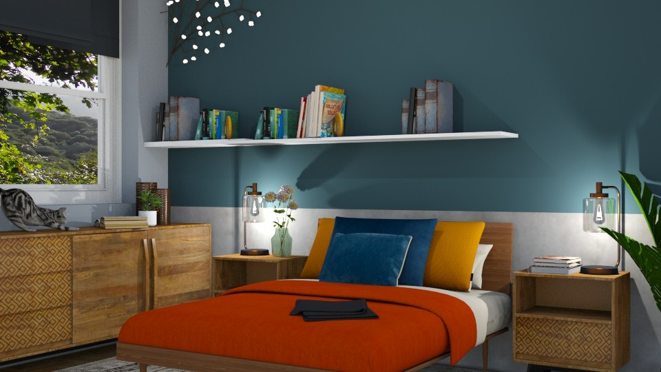 orange vibe - Bedroom - by maudberg01