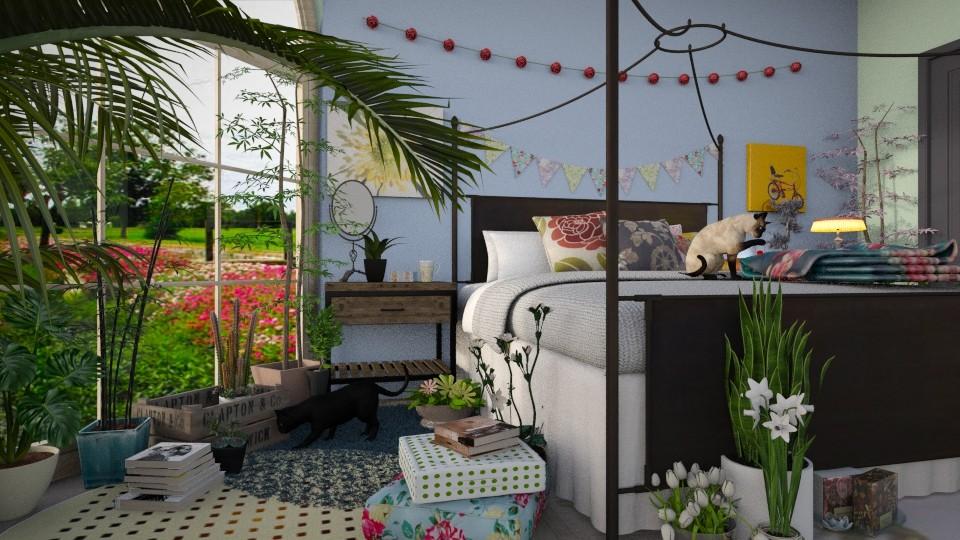 garden bed - Bedroom - by _firecrackers