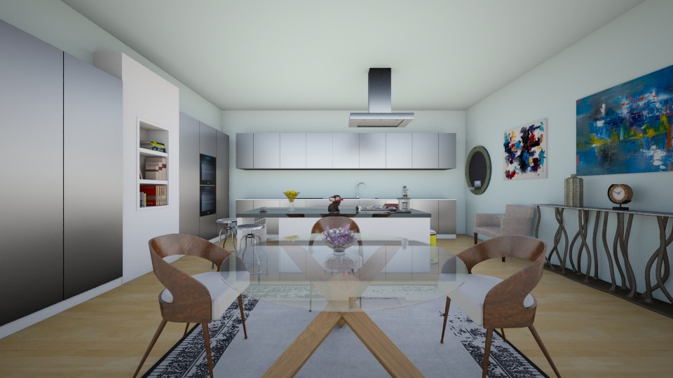 penthouse kitchen - Modern - Kitchen - by Charlotte Aliceee