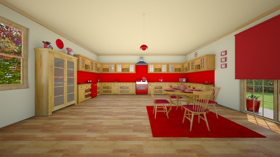 Country Pine - Kitchen - by creato