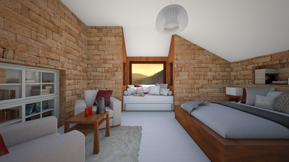 Attic bedroom - Bedroom - by vxszxyz