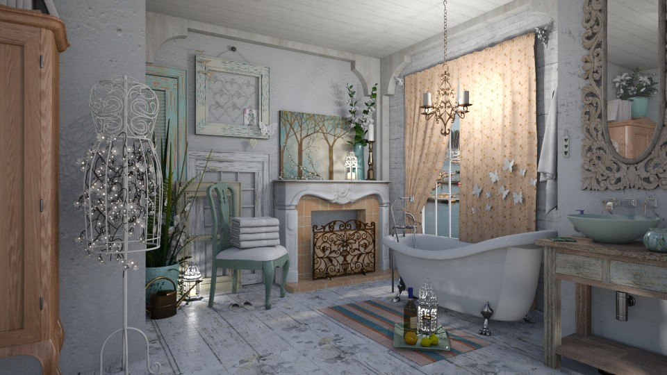 shabby chique - Vintage - Bathroom - by starsector