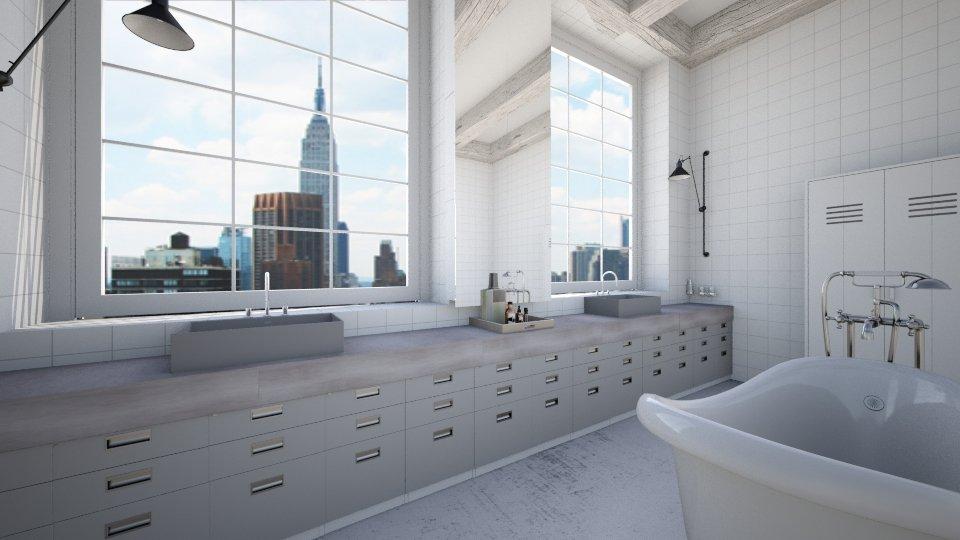 NYC White Bath - Bathroom  - by amandafern