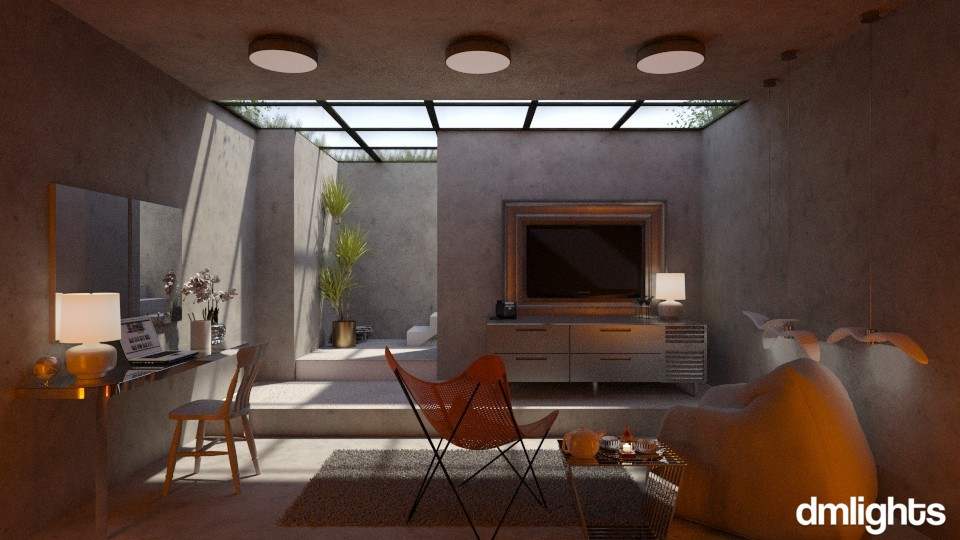Level minus one - Modern - Living room - by DMLights-user-991288