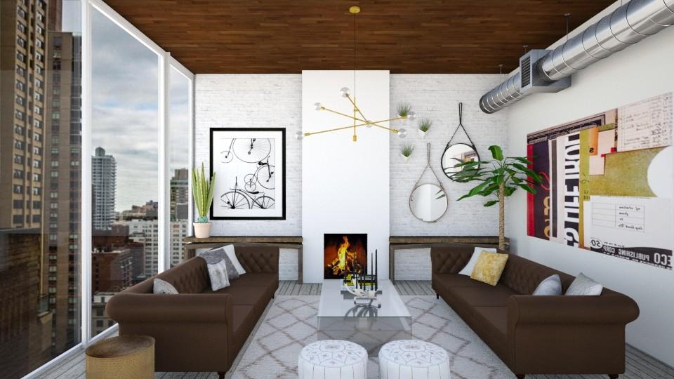 TX vs NYC - Living room - by mrusso0
