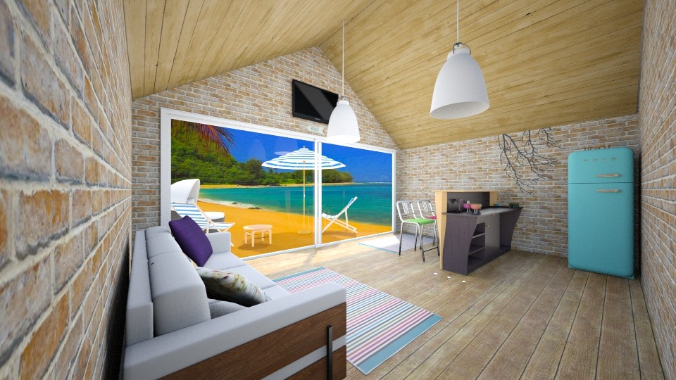 beach house - Living room - by domi328