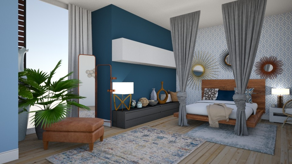 Bohemian Bedroom - Bedroom  - by DagnyL