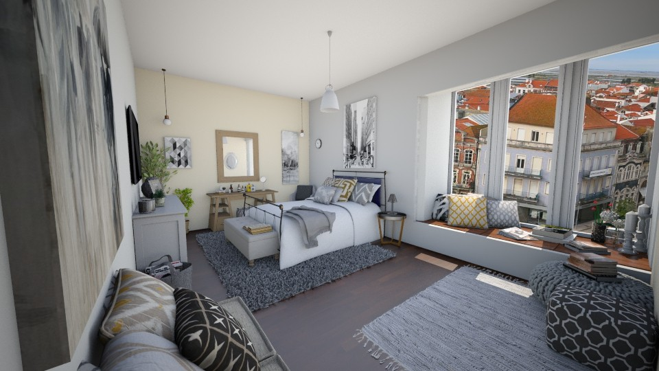 Bay window Room - Bedroom - by niidurose